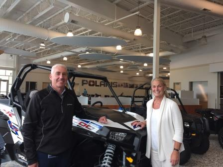 Commissioner Buerkle with a representative of Polaris.