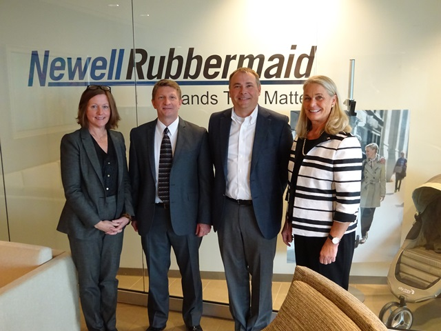 Commissioner Buerkle and representatives from Newell Rubbermaid/Graco