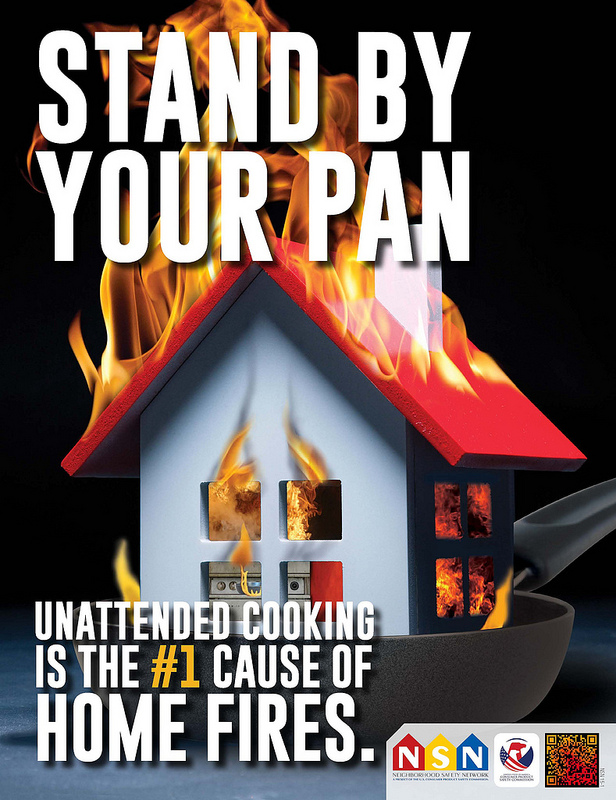 Unattended Cooking is the #1 Cause of Home Fires